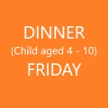 Conference Dinner  (Child age 4-10) - FRIDAY