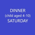 Conference Dinner  (Child age 4-10) - SATURDAY