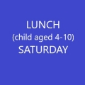 Conference Lunch (Child age 4-10) - SATURDAY