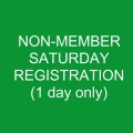 Non-Member SATURDAY Registration
