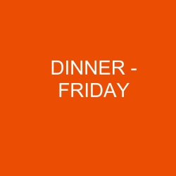Conference Dinner - FRIDAY
