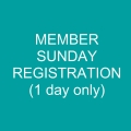 Member SUNDAY (only) Registration